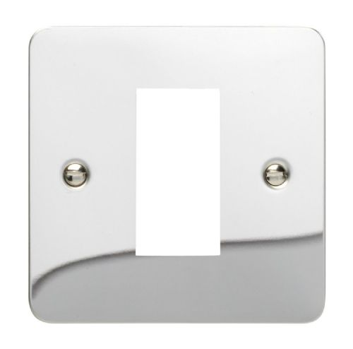 Varilight XFCG1 Ultraflat Polished Chrome DataGrid Plate (1 DataGrid Space)